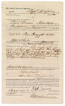 1890 May 17: Voucher, to Elijah Lairmore, of Fort Smith, Arkansas, for assisting J.D. Shaw, deputy marshal, in U.S. v. Tom Frezzell, introducing and selling spiritous liquors; Stephen Wheeler, commissioner; Jacob Yoes, U.S. marshal; includes cost of daily wage