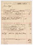 1890 May 29: Voucher, U.S. v. Jerry Nigh, introducing spirituous liquors; Robert Cox, deputy marshal; Grant Dalton, posse comitatus; James Jeules, guard; Tommy Chubby, witness; Stephen Wheeler, commissioner