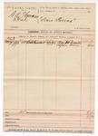 1890 June 7: Voucher, U.S. v. G.A. Thurman et.al; William McDaniels, Stephen Grace, witnesses