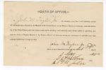 1890 May 21: Oath of office, of John M. Taylor Jr., deputy marshal; I.C. Parker, judge
