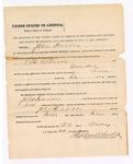 1890 May 22: Mittimus, to await sentencing for John Harris, murder; E.B. Ratterree, deputy marshal; Stephen Wheeler, commission