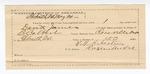 1890 May 26: Voucher, U.S. v. David James, larceny; B. Colbert, deputy marshal; James Brizzolara, commissioner; T.B. Sebastian, guard; I.M. Dodge, deputy clerk