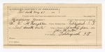 1890 May 23: Voucher, U.S. v. Rosman Manns and Joe Soloier, introducing and selling spiritous liquors; S.P. McLaughlin, deputy marshal; James Brizzolara, commissioner; H. Durham, posse comitatus; John Hinton, guard; Tom Smith, Nick Coming Deer, George Roach, Monroe Oglesby, witnesses; includes cost of mileage, service and feeding prisoners