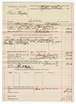 1890 June 10: Voucher, U.S. v. Clint Thompson, introducing and selling spiritous liquor; E.B. Ratterree, deputy marshal; Stephen Wheeler, commissioner; John McMurtrey, posse comitatus; includes cost of mileage, service and subsistence for self, horse and prisoner