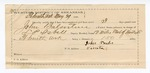 1890 May 29: Voucher,  U.S. v. John Balentine, larceny; L.P. Isbell, deputy marshal; Jacob Yoes, U.S. marshal; John Turks, guard; James Brizzolara, commissioner; Stephen Wheeler, clerk; I.M. Dodge, deputy clerk; includes cost of mileage, service and feeding prisoner