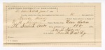 1890 June 3: Voucher, U.S. v. Lewis Study, larceny; W.N. Stewart, deputy marshal; Anderson Keen, posse comitatus; James Keen, guard; includes cost of mileage, service and subsistence for self, horse and prisoner