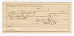 1890 April 19: Voucher, U.S. v. Anton Gregory, introducing and selling spiritous liquors; B.T. Shelburne, deputy marshal; Stephen Wheeler, commissioner; Henry Brown, guard; includes cost of mileage, service and subsistence for self, horse and prisoner