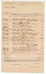 1890 June 23: Voucher, U.S. v. Swimmer Garr; R.B. Creekmore, deputy marshal; John W. Southerland, George Scoville, witnesses; Joe Bowers, witness in U.S. v. George Sutton; B. Colbert, witness in U.S. v. Robert Gloves; William Simpson, witness in U.S. v. Thomas Whitney; William C. Simpson, W.C. Williams, witnesses in U.S. v. G.A. Clay; William Mickle, witness in U.S. v. William Mickle; Charles Johnson, witness in U.S. v. Dick Anderson; Tennessee Guffy, Susan Hope, Dr. W.W. Baily, witnesses in U.S. v. W.H. Alexander; A.J. Pritchard, witness in U.S. v. William Hampton; Jefferson Hogue, witness in U.S. v. Jefferson Hogue