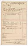 1890 July 12: Voucher, U.S. v. Dick Hollemon, larceny; A.P. Walker, deputy marshal; Jacob Yoes, U.S. marshal; Emmet Vann, witness; James Brizzolara, commissioner; Stephen Wheeler, clerk