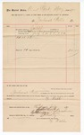 1890 July 16: Voucher, to Zachariah Wells; includes cost for services rendered as bailiff for court; Jacob Yoes, U.S. marshal; Stephen Wheeler, clerk; I.M. Dodge, deputy clerk
