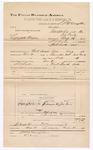 1890 December 31: Voucher, U.S. v. Lafayette Hughes, introducing spiritous liquors; S.P. McLaughlin, deputy marshal; Jacob Yoes, U.S. marshal; John Goins, witness; Stephen Wheeler, commissioner