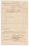 1890 September 2: Voucher, to Renfroe B. Creekmore; includes cost for services rendered as bailiff for court; Jacob Yoes, U.S. marshal; Stephen Wheeler, clerk; I.M. Dodge, deputy clerk