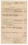 1890 May 09: Voucher, U.S. v. James McKinney, introducing and selling spiritous liquors; James K. Pemberton, deputy marshal; Jacob Yoes, U.S. marshal; Stephen Wheeler, commissioner; I.M. Dodge, deputy clerk; A.J. Vaughn, posse comitatus; Buck Midgett, Mrs. Midgett, witnesses; includes cost of mileage, service and subsistence for self, horse and prisoner