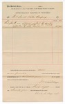 1890 October 1: Voucher, to Fort Smith Water Company; includes cost for water used in U.S. jail; Jacob Yoes, U.S. marshal; Clark Kellogg, signature for water company