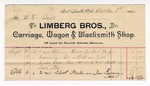 1890 October 06: Voucher, to Limberg Bros.; includes cost for materials used for repair of the U.S. jail; Jacob Yoes, U.S. marshal