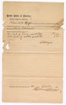 1890 October 21: Voucher, to S.H. Mayes; icnludes cost for horses and cattle; Stephen Wheeler, commissioner