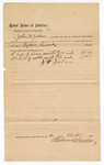 1890 October 21: Voucher, to John W. Jordan; includes cost for horses and cattle; Stephen Wheeler, commissioner