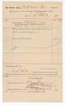1890 December 01: Voucher, to G.S. White; includes cost for services rendered as bailiff for court; Stephen Wheeler, clerk; I.M. Dodge, deputy clerk; Jacob Yoes, U.S. marshal