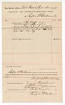 1890 December 01: Voucher, to Renfroe B. Creekmore; includes cost for services rendered as bailiff for court; Stephen Wheeler, clerk; I.M. Dodge, deputy clerk; Jacob Yoes, U.S. marshal
