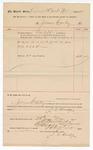 1890 December 26: Voucher, to James L. Conley; includes cost for services rendered as bailiff for court; Stephen Wheeler, clerk; I.M. Dodge, deputy clerk; Jacbo Yoes, U.S. marshal