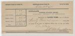 1890 December 31: Voucher, to S.P. McLaughlin, deputy marshal, for assisting in U.S. v. Robert Sanders, U.S. v. Red Bird Squirrell, U.S. v. Candy Squirrell U.S. v. William Mink, U.S. v. George Sanders, U.S. v. John E. Welch, U.S. v. William Squirrell, U.S. v. Adam Sevinstar, U.S. v. William Patton, U.S. v. Roseman Manus and Joe Soevier, U.S. v. Charles Fogg, U.S. v. Wolf Vann, U.S. v. George Judalopa, U.S. v. John Rogers, U.S. v. Bill Campbell, U.S. v. C.W. Polle, U.S. v. Gus Reuz and D. Ingram, U.S. v. U.S. v. Waluka Pigeon, U.S. v. Dave Rogers, U.S. v. Joe Texas, U.S. v. James Smith; Stephen Wheeler, James Brizzolara, commissioners; Thomas Tapper, James Charlie, James Christie et.al, James Holius, Clan Willis et.al, Charles Junny, Marten Harper et al., Cordelius Lawson et al., Tom Smith, George Haren, James Corban et al., George Blusby, Leonard Bolin, Sam Barnit et al., Ed Barr et al., N.B. Ward et al., James Sixkiller, James Cape, George Whitewater et al., witnesses