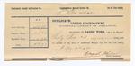 1890 December 31: Voucher, to Grant Johnson, deputy marshal, for assiting in U.S. v. One Weighly, U.S. v. One Auros, U.S. v. M. Williams and Wililam Murphy, U.S. v. Solomon Lotke, and U.S. v. J. Whittenburg; Ben Brown, Catch Ussue, One Wire, William Frances, witnesses; James Brizzolara, Stephen Wheeler, commissioners; J.M. Dodge, deputy marshal