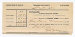 1893 November 6: Voucer, to William Foreman, deputy marshal, for assisting in U.S. v. Frank Allen, U.S. v. Henry Davis, U.S. v. Frank Dougherty, U.S. v. Charles Smith, U.S. v. John Frank; Stephen Wheeler, James Brizzolara, commissioners; R.S. Knight, Mrs. Susan Edmonds, Grayson Wills, T.R. Knight, John Shaver, William Howell, witnesses