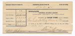 1890 December 31: Receipt, for vouchers of Bass Reeves, deputy marshal; Jacob Yoes, U.S. marshal; J.E. Dunn, witness of mark