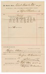 1890 December 31: Voucher, to Renfroe B. Creekmore; includes cost for services rendered as bailiff for court; Jacob Yoes, U.S. marshal; Stephen Wheeler, clerk; I.M. Dodge, deputy clerk