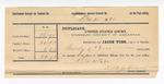 1890 December 31: Voucher, to Thomas B. Johnson, deputy marshal, for assisting in U.S. v. Dr. P. Tabler, U.S. v. Hill White, U.S. v. David Jones, U.S. v. Lee Carey and George Cunningham, U.S. v. Hustin Downing, U.S. v. Prit Taylor; E.B. Harrisson, commissioner; John Bird, More Featherhead, John Barter, witnesses