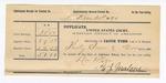 1890 December 31: Voucher, to W.J. Malone, deputy marshal, for assisting in U.S. v. Burt Farley, U.S. v. Pickup Wolf, U.S. v. John H. Henderson, U.S. v. Sterling Thompson, U.S. v. Sam Lacey, U.S. v. Joe Lacey, U.S. v. Taylor Blackfox; E.B. Harrisson, commissioner; Dave Fields, Simon Drye, John Roseberry, William Talfeuie, J. Allen, Charley Smith, John Doublefree, witnesses