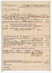 1891 August 19: Voucher, U.S. v. Virgil Cowart, introducing spiritous liquors; includes cost of warrant, mileage, subsistence, feeding prisoner, witness; B.T. Shelburn, deputy marshal; George State, James Huett, W.C. Taylor, William Revis, witness; James Brizzolara, commissioner