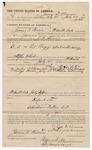 1891 July 24: Voucher, to James D. Brown, of Fort Smith, Arkansas, for assisting J.H. Shaw, deputy marshal, in U.S. v. Ed Biggs and George Moore, larceny; Stephen Wheeler, commissioner; I.M. Dodge, deputy clerk; F.M. Parker, Tan Scott, William Falconer, Mrs. McBride, witnesses