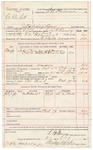 1891 October 20: Voucher, U.S. v. Oo Kle hut, introducing liquor; includes cost of warrant, mileage, subsistence, feeding prisoner, witness; L.H. Raney, deputy marshal; Si a Nook, witness; E.B. Harrison, commissioner; Stephen Wheeler, clerk; J.M. Dodge, deputy clerk; Jacob Yoes, U.S. marshal