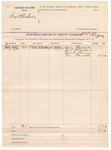 1891 October 18: Voucher, U.S. v. George Bledsoe; includes cost of subpoenas; H.L. Rogers, deputy marshal; Lucy Harvile, Jim Bledsoe, Dock Bruner, Tom Harvile, witnesses