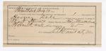 1891 August 12: Voucher, U.S. v. Harvey Dale, larceny; includes cost of feeding prisoner; W.N. Stewart, deputy marshal; E.B. Harrison, commissioner; James Brizzolara, clerk; Jacob Yoes, U.S. marshal