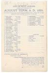 1891 October 20: Venire facias, in U.S. v. James Boykin, introducing spirituous liquors; commanding the summons of George A. Bryant, Joseph Bonner, Thomas C. Bethel, John J. Bonner, Alonzo Bouton, John W. Clayborn, Henry P. Dooly, Linley M. Deering, Joseph A. Duncan, Frank W. Dunn, James O. Eubanks, John Fishero, John A. Fisher, Henry P. Floyd, William C. Gentry, Francis M. Graham, James H. Hamilton, Alford P. Holt, George W. Hobbs, Agrippa T. Hopkins, Mack McKinney, Samuel T. McMasters, Hugh F. Mullen, Osborn McCall, John D. McCleary, Charles, Nichols, John Paterson, Henry K. Phillips, Obadiah C. Richmond, Porter A. Savage, Joseph Stafford, Britton Upchurch, Daniel W. Weld, Henry B. Wheeler, John F. Williams, John Williams Sr., Robert Whiting, petit jurors; James P. Mack, Frank Freer, Henry T. Burdick, B.J. Griffin, Henry Williams, alternate petit jurors; Stephen Wheeler, clerk