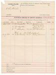 1891 October 02: Voucher, U.S. v. Wiley Wheeler; A.B. Allen, deputy marshal; F.L. Houston, William Clarkson, John Adams, A.J. Milsaps, William Meadows, witnesses; Kelsey Gilmore, witness in U.S. v. W.D. Strickland