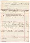 1891 November 19: Voucher, U.S. v. Ben Williams, introducing spiritous liquors; includes cost of warrant, mileage, subsistence, witness; Milo Creekmore, deputy marshal; Newland Reeves, posse comitatus; Caesar Add, witness; James Brizzolara, commissioner