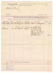 1891 October 07: Voucher, U.S. v. Calvin Lewis; J.H. Shaw, deputy marshal; Calvin Musgrove, witness; Dr. T.D. Bush, C.C. Smith, John M. Weaver, Jerry Deamne, W. Chapman, Dr. Hardin, witnesses in U.S. v. Marion Shelton