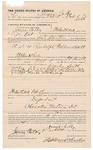 1891 October 09: Voucher, U.S. v. Randolph Waldrown, assault with intent to kill; Stephen Wheeler, commissioner; Cal Carter, deputy marshal; Sol Foreman, Levi Blake, witnesses; James Calbey, posse comitatus