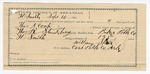 1891 September 10: Voucher, U.S. v. Thomas A. Cook, dealing liquor without paying taxes; includes cost of warrant, subsistence, mileage; Thomas R. Stausberry, deputy marshal; William Spain, guard; Stephen Wheeler, clerk; J.M. Dodge, deputy clerk; Jacob Yoes, U.S. marshal