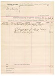 1891 October 12: Voucher, U.S. v. Steve Cantrell; includes cost of witnesses, subsistence, mileage; John M. Taylor Jr., deputy marshal; Irwin Taylor, J.S. Gentry, witnesses