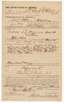 1891 October 12: Voucher, to James Stephens, of Fort Smith, Arkansas, for assisting Robert J. Topping, deputy marshal, in U.S. v. Ed Browne, assault; Dave Smedley, arrested; Stephen Wheeler, commissioner; Jacob Yoes, U.S. marshal