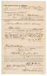 1891 October 12: Voucher, U.S. v. James Shores and Pink Emmerson, larceny; E.B. Ratteree, deputy marshal; John McMurtry, posse comitatus; Stephen Wheeler, clerk; Jacob Yoes, U.S. marshal