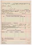 1891 October 21: Voucher, U.S. v. Norkie Bell, retail liquor dealer; includes cost of warrant, mileage; John W. Yoes, deputy marshal