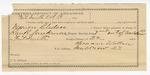 1891 October 19: Voucher, U.S. v. Marion Bledsoe, assault with intent to kill; Ran B. Creekmore, deputy marshal; Howard Wallace, guard; Abe Bledsoe, Marion Bledsoe, Stake Bledsoe, John Sanders, One Bands, Lee Daniels, Dr. Bruner, witnesses; Stephen Wheeler, clerk; I.M. Dodge, deputy clerk