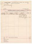1891 October 25: Voucher, U.S. v. J.A. McCormick; includes cost of witnesses and mileage; B.T. Shelburne, deputy marshal; S.E. Barba, Grant Hesler, J.J. McCarty, John Clark, Ed Sprague, witnesses