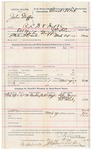 1892 March 30: Voucher, U.S. v. John Duffie, retail liquor dealer without paying special tax and introducing spiritous liquors; includes cost of warrant, mileage, witnesses; J.D. Shaw, deputy marshal; Riley Jones, S. Mosby, Ed Mosby, witnesses; Stephen Wheeler, clerk; J.M. Dodge, deputy clerk; Jacob Yoes, U.S. marshal