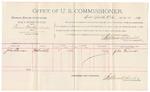 1891 October 21: Voucher, U.S. v. Paris Bodle et al., introducing spiritous liquors; includes cost of witnesses and mileage; John Turner, witness; Stephen Wheeler, commissioner; Jacob Yoes, U.S. marshal